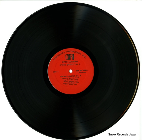 SINNHOFFER QUARTET MUNICH luening; string quartet no.2 CRISD303 - disc