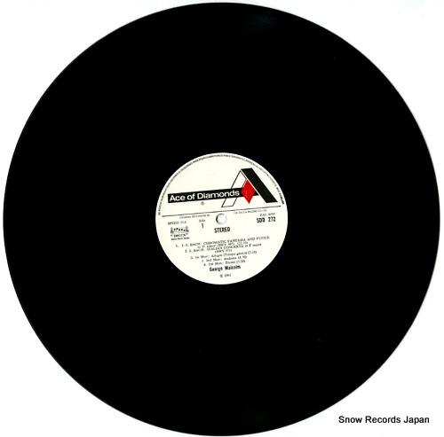 MALCOLM, GEORGE bach harpsichord recital SDD272 - disc