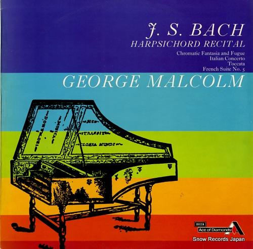 MALCOLM, GEORGE bach harpsichord recital SDD272 - front cover