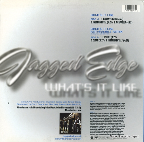 JAGGED EDGE what's it like 4476696 - back cover