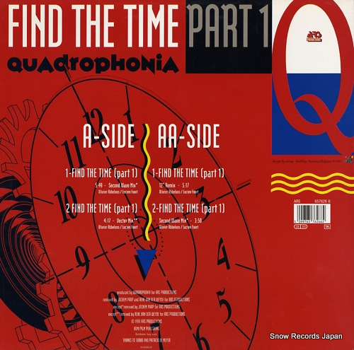 QUADROPHONIA find the time (part 1) 6576266 - back cover