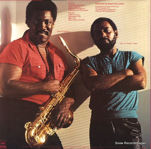 CLEMONS, CLARENCE, AND THE RED BANK ROCKERS rescue 25AP2704 - back cover