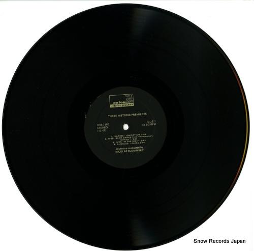 SLONIMSKY, NICOLAS history making premieres ORD7150 - disc