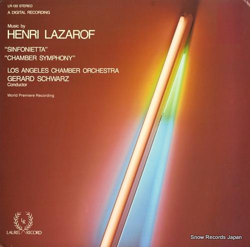 SCHWARZ, GERARD lazarof; sinfonietta LR-133 - front cover