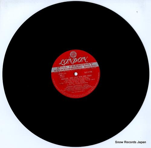 レナード・バーンスタイン マーラー:交響曲「大地の歌」 SLC1736