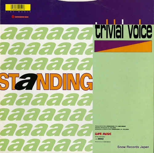 TRIVIAL VOICE standing LINE2043 - back cover