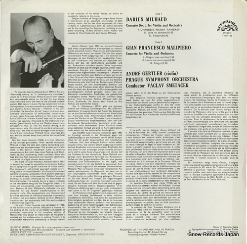 GERTLER, ANDRE milhaud; concerto no.2 for violin and orchestra 1101120 - back cover