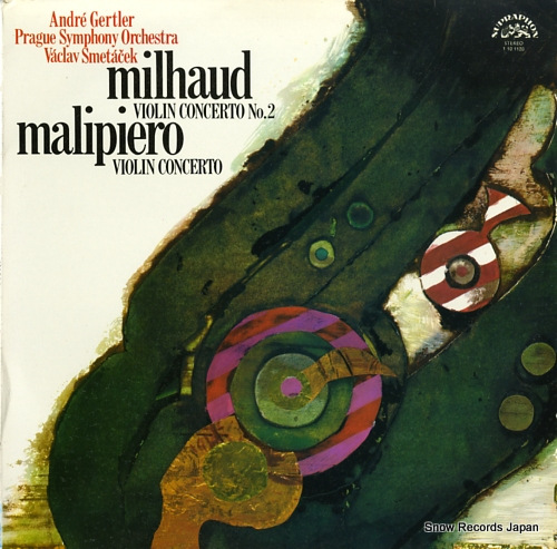 GERTLER, ANDRE milhaud; concerto no.2 for violin and orchestra 1101120 - front cover