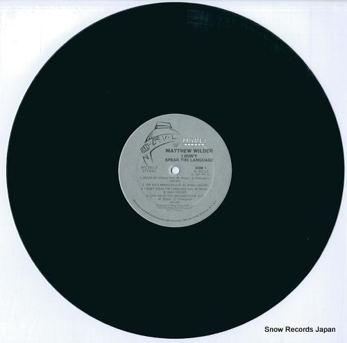 WILDER, MATTHEW i don't speak the language FZ39112 - disc