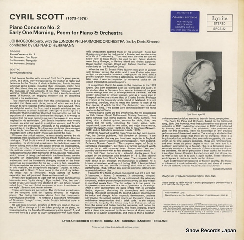HERRMANN, BERNARD scott; piano concerto no.2 SRCS.82 - back cover