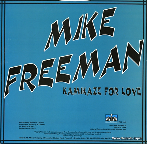 FREEMAN, MIKE kamikaze for love TRD1445 - back cover