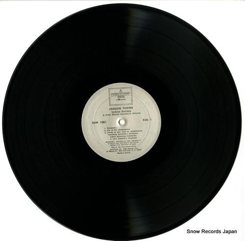 WEINBERG, ARTHUR turina; sinfonia sevillana SUM1061 - disc