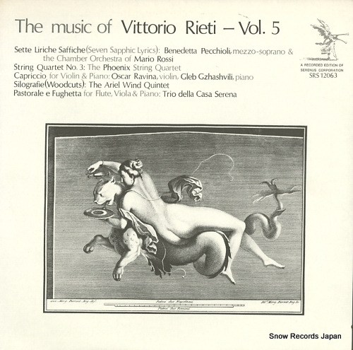 V/A the music of vittorio rieti-vol.5 SRS12063 - front cover