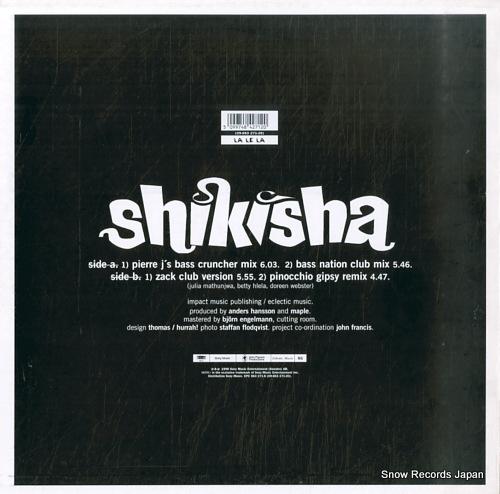 SHIKISHA la le la - the remixes EPC-663-271-6 - back cover