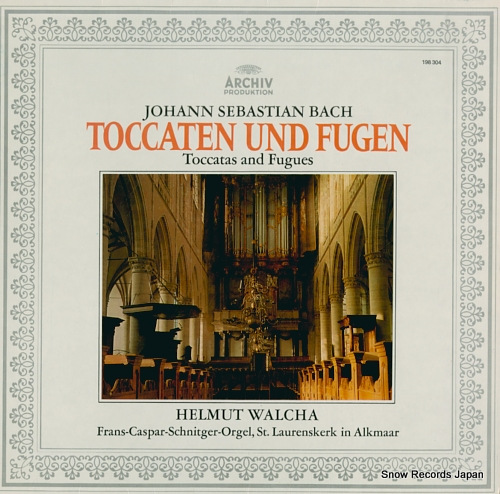 WALCHA, HELMUT bach; toccatas and fugues 198304 - front cover