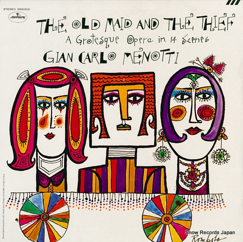 V/A gian-carlo menotti; the old maid and the thief SR90521 - front cover