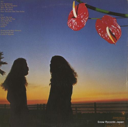CECILIO AND KAPONO night music PC34300 - back cover