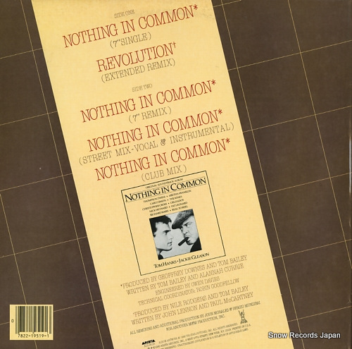 THOMPSON TWINS nothing in common AD1-9519 - back cover
