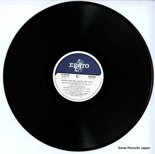 RAMPAL, JEAN-PIERRE / LILY LASKINE musique pour trois, quatre, cinq flutes TD-3001-RE - disc