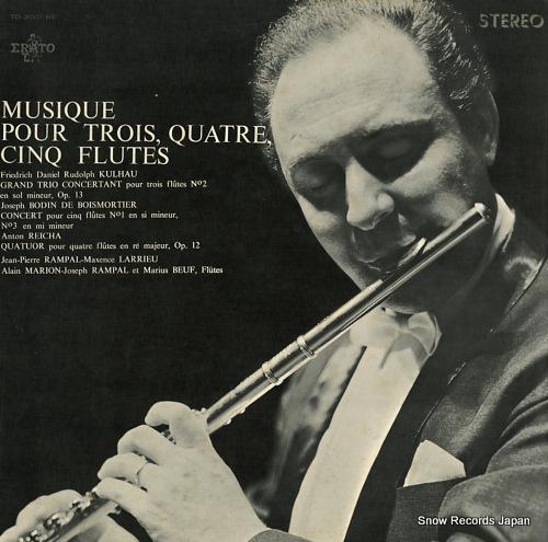 RAMPAL, JEAN-PIERRE / LILY LASKINE musique pour trois, quatre, cinq flutes TD-3001-RE - front cover