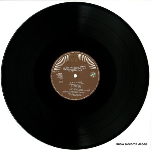 KRAFT, WALTER handel; organ concertos op.4 vol.1 H-5068 - disc