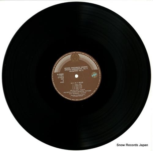 KRAFT, WALTER handel; organ concertos op.4 vol.2 H-5069 - disc