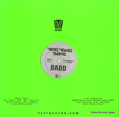 YING YANG TWINS badd TV-2524-0 - back cover