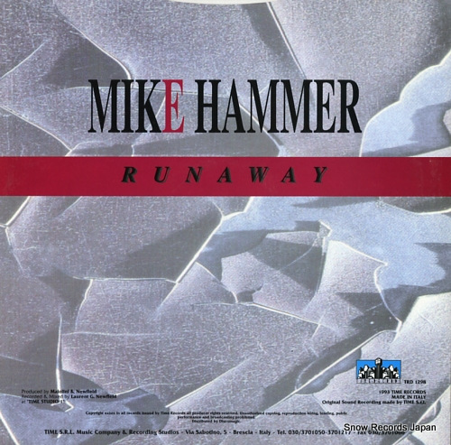 HAMMER, MIKE runaway TRD1298 - back cover