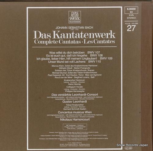 HARNONCOURT, NIKOLAUS / GUSTAV LEONHARDT bach; complete cantatas vol.27 6.35559 - back cover