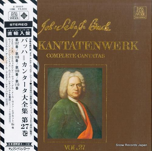 HARNONCOURT, NIKOLAUS / GUSTAV LEONHARDT bach; complete cantatas vol.27 6.35559 - front cover
