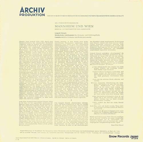 CARL, GORVIN leopold mozart; manheim und wien 14084 - back cover