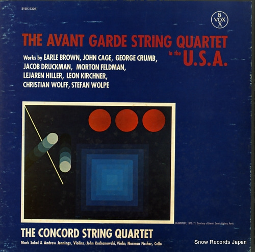 V/A the avant garde string quartet in the u.s.a SVBX5306 - front cover