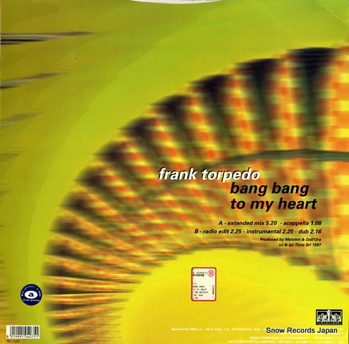 TORPEDO, FRANK bang bang to my heart TRD1643 - back cover