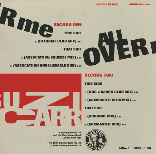 CARR, SUZI all over me(uk & us mixes) 12RODEO94712DJ - back cover
