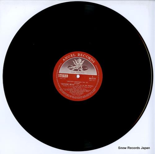 FORSTER, KARL schubert; deutsche messe AA-9724 - disc
