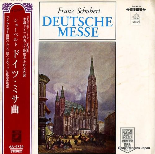 FORSTER, KARL schubert; deutsche messe AA-9724 - front cover