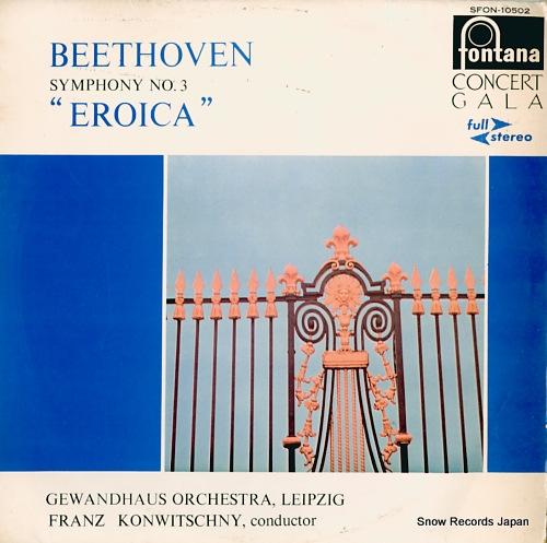 KONWITSCHNY, FRANZ beethoven; symphony no.3