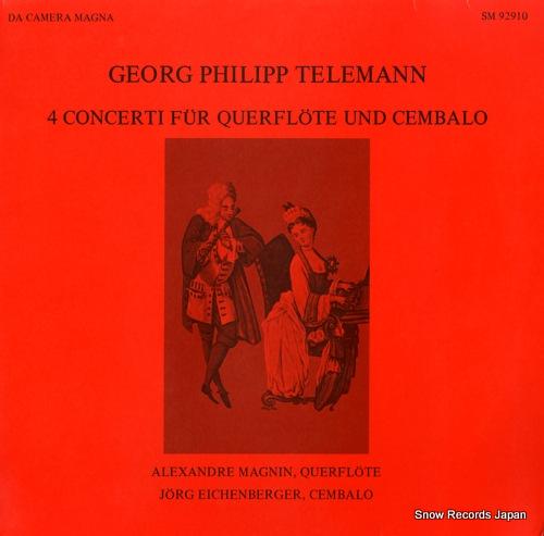 MAGNIN, ALEXANDRE telemann; 4 concerti fur querflote und cembalo SM92910 - front cover