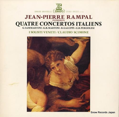 RAMPAL, JEAN-PIERRE martini; concerto en sol majeur pour flute et orchestre a cordes ERX-2372 - front cover