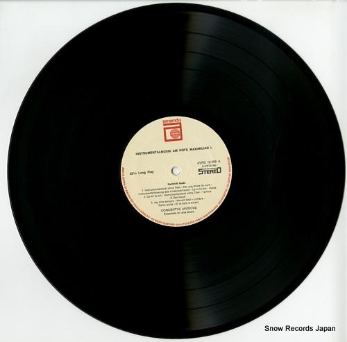 CONCENTVS MVSICVS instrumentalmusik am hofe maximilian 1. AVRS12009 - disc