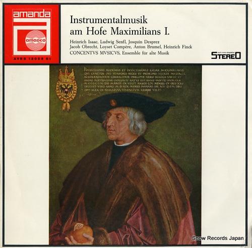 CONCENTVS MVSICVS instrumentalmusik am hofe maximilian 1. AVRS12009 - front cover
