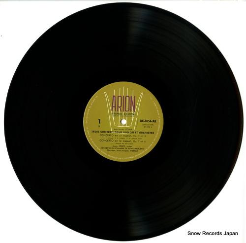 JORDY, ANNIE trois concerti pour violon et orchestre OX-1054-AR - disc