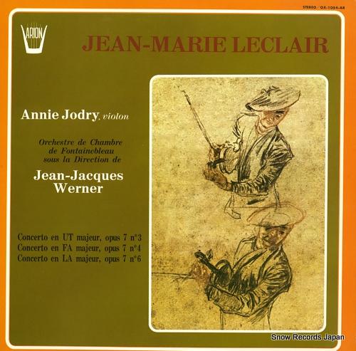 JORDY, ANNIE trois concerti pour violon et orchestre OX-1054-AR - front cover