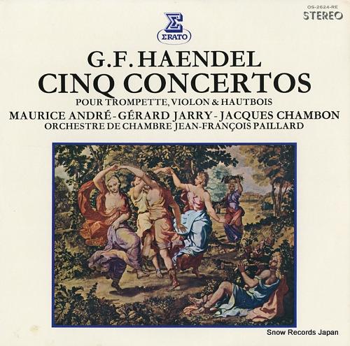 PAILLARD, JEAN-FRANCOIS haendel; cinq concertos OS-2624-RE - front cover