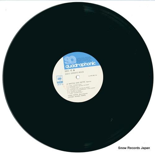 BOULEZ, PIERRE boulez conducts boulez SOCO47 - disc