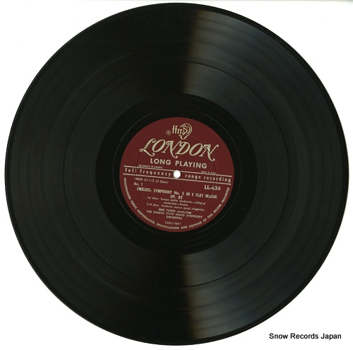 TUXEN, ERIC / THOMAS JENSEN sibelius; symphony no.5 in e flat major (opus 82) LL634 - disc