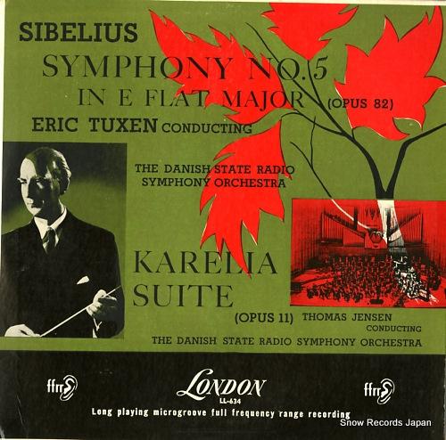 TUXEN, ERIC / THOMAS JENSEN sibelius; symphony no.5 in e flat major (opus 82) LL634 - front cover