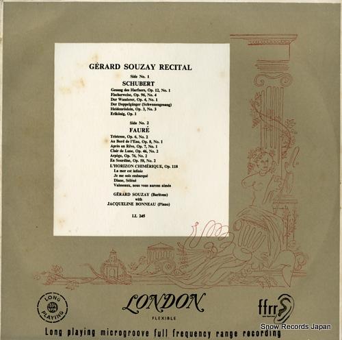 SOUZAY, GERARD recital LL245 - front cover