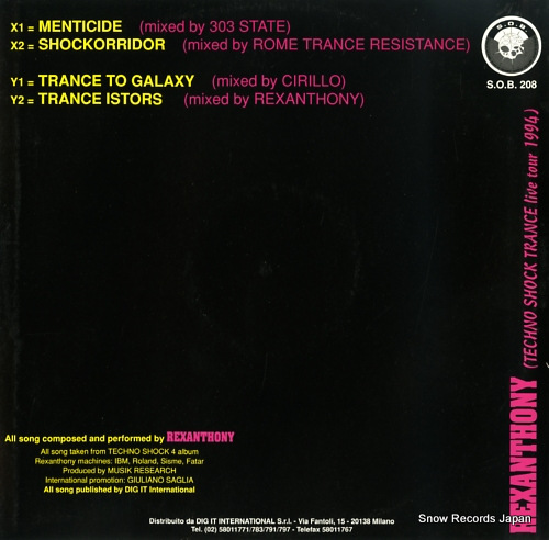 REXANTHONY menticide SOB208 - back cover