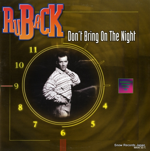 RUBACK don't bring on the night 474023.6 - front cover